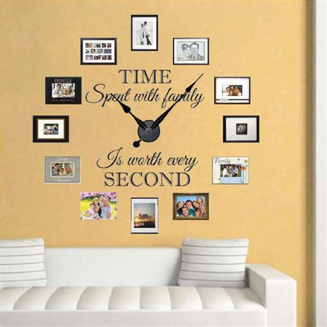 Wall Clock Stickers decal wall clock wall clock decal with home gt roman