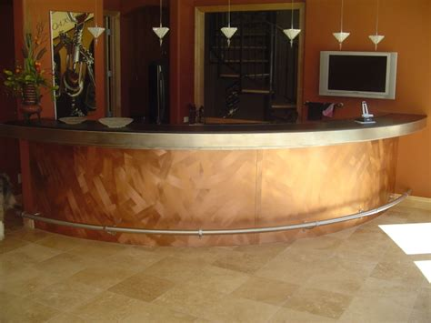 stainless steel bar top copper and stainless steel bar front top and rail hempel sheet metal works