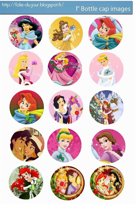 disney bottle cap art and disney princess on pinterest