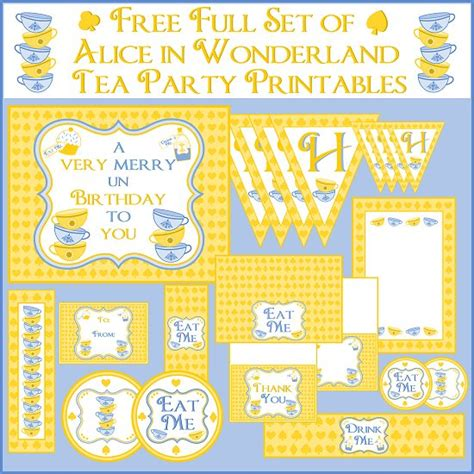 printable pictures alice in wonderland free alice in wonderland tea party printables from