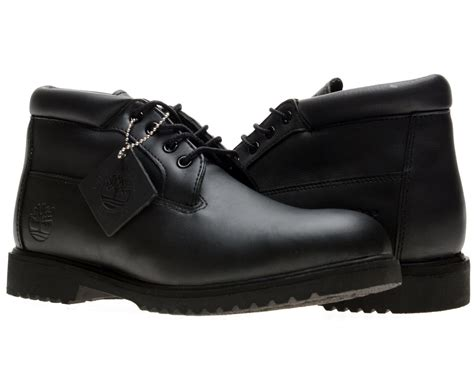 timberland classic waterproof chukka black smooth leather