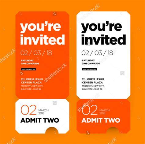 29 ticket invitation templates free premium download