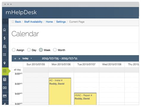service scheduling software by mhelpdesk