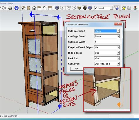 sketchup layout guide section cut face plugin demonstration quick sketchup