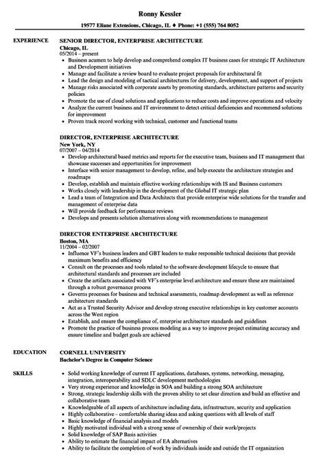 Enterprise Architect Resume by Director Enterprise Architecture Resume Sles Velvet