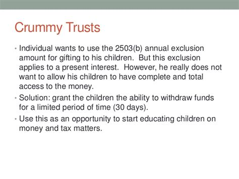 section 2503 trust an introduction to trusts