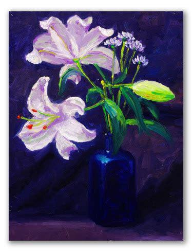 fiori gigli quadro di gigli pittura con fiori per decorare