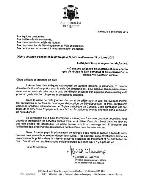 Lettre De Remerciement Québec D 233 Veloppement Et Paix Qu 233 Bec Rive Sud Cagne 2010 2011