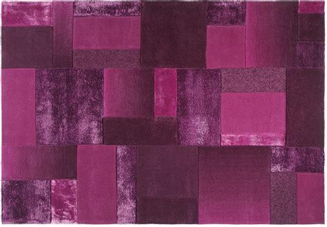 teppiche violett esprit teppich patchwork esp 2827 02 flieder lila bei