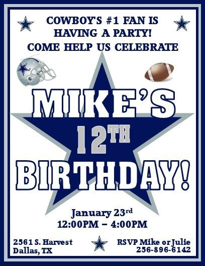 Dallas Cowboys Baby Shower Invitations by Dallas Cowboys Invitations Cimvitation