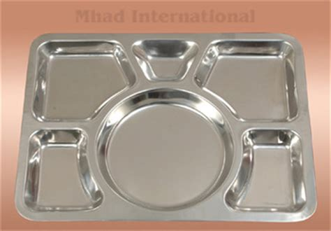 stainless steel six part compartment food tray buy stainless steel food tray product on