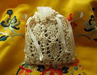 Shoo Sachet ravelry beginner s lace sachet bag pattern by tina
