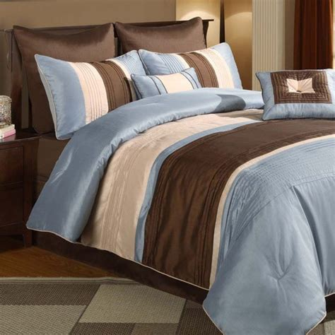 brown and blue comforter maxwell blue brown 8 piece comforter set modern