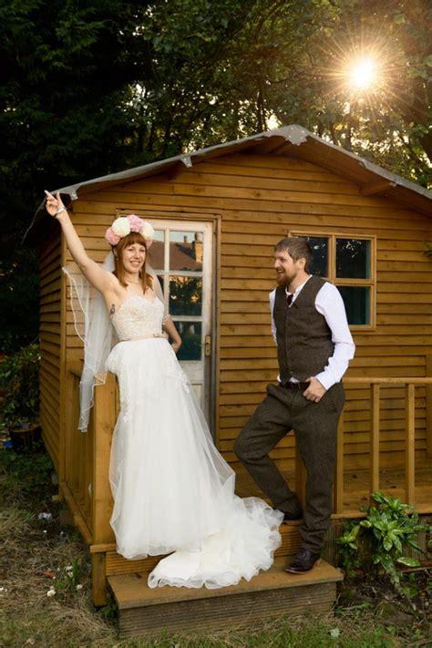back garden wedding diy wedding in their own back garden 183 rock n roll bride