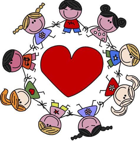childrens valentines s day clipart child pencil and in color