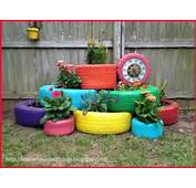 Lemon Bean And Things Recycle Tire Planter  Under $8000