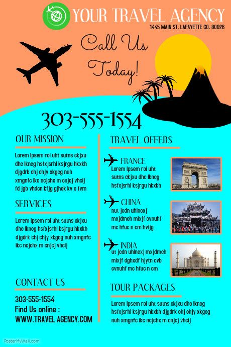 travel agency poster template travel agency postermywall