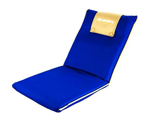 portable floor chair wealers portable foldable padded comfortable recliner
