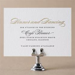 formal wedding reception card wording reception cards by figura