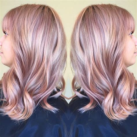 Bloude Dusty Pink dusty gold muted mauve pastel color hair by me
