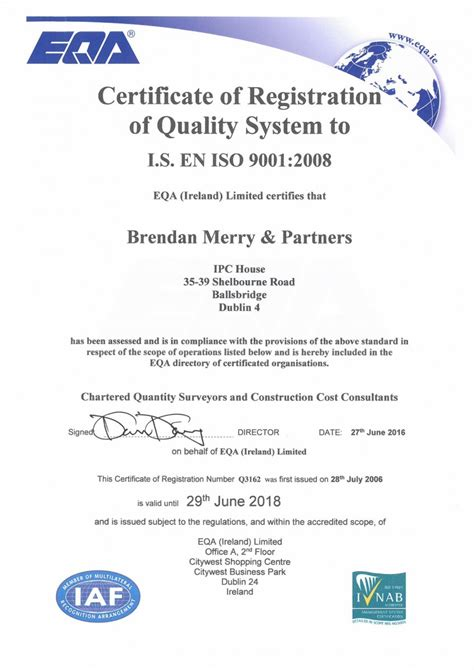 brendan merry partners quality assurance quantity