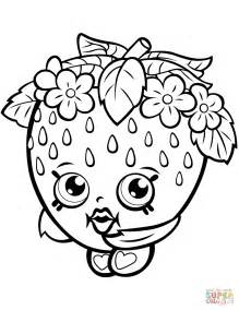 Coloring Pages Strawberry Shopkin Coloring Page Free Printable