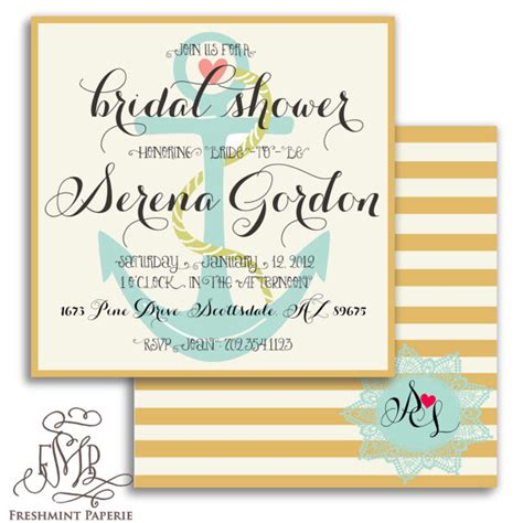 printable nautical bridal shower invitations printable invitations nautical invitations doily