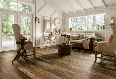 Farmhouse Chic Living Room by 15 Best Reclaimed Wood Flooring Designs Pictures