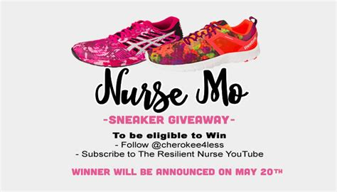 Sneaker Giveaway Contests - the resilient nurse