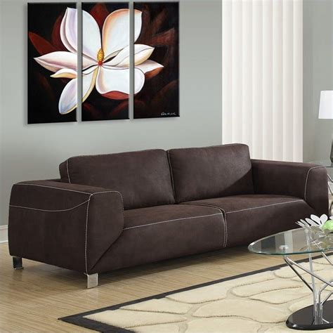 chocolate brown suede sectional monarch contrast micro suede sofa in chocolate brown ebay