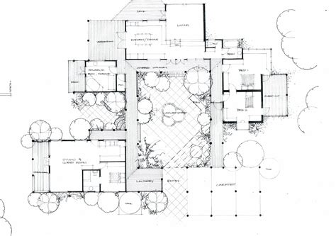 house plan with courtyard courtyard house plan chinese architecture pinterest