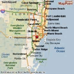 map of miami area florida west miami florida