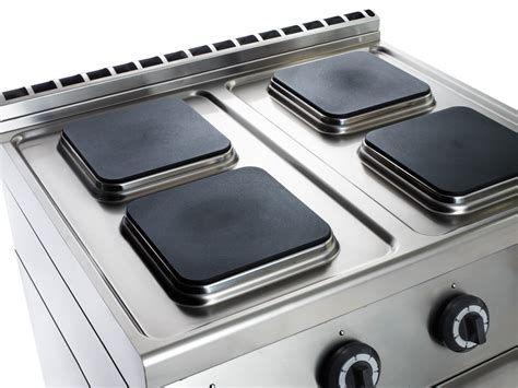 emmepi cucine cucina professionale 4 piastre elettriche su vano aperto