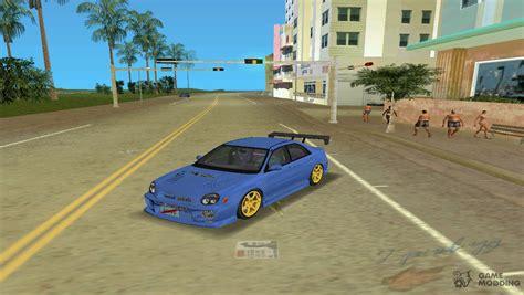 Car Types In Gta by 2002 Subaru Impreza Wrx Type 3 For Gta Vice City