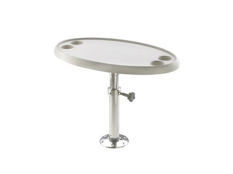 marine tables for boats boat table with pedestal manual adjustment round or oval