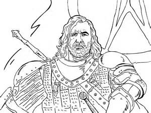 game of thrones colouring in page the hound colouring