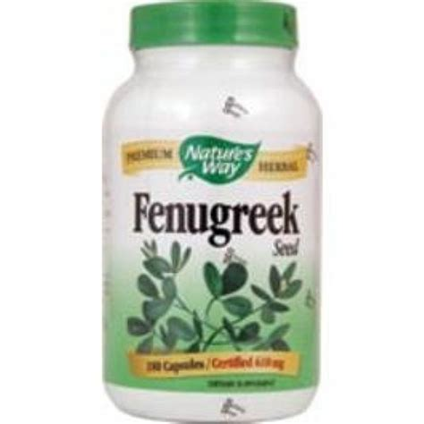 Natures Way Fenugreek 610mg 100 Kapsul T0310 gain weight with fenugreek
