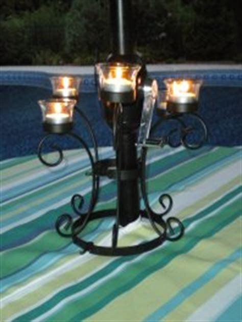 Patio Umbrella Candle Holder Patio Umbrella Lights Solar Candles And Battery Operated