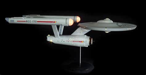 starship enterprise model with lights polar lights 1 350 scale trek uss enterprise