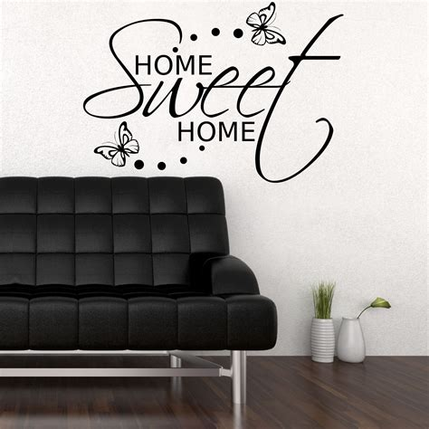 home sweet home wall sticker room gift decal mural