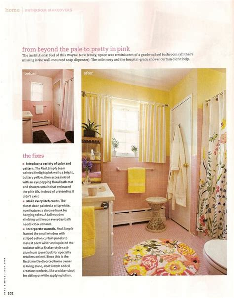 Real Bathroom Makeovers by Real Simple Bathroom Makeovers Klovedesigns