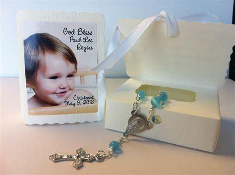 Rosary Giveaways Baptism - baptism christening favors photo mini rosary box