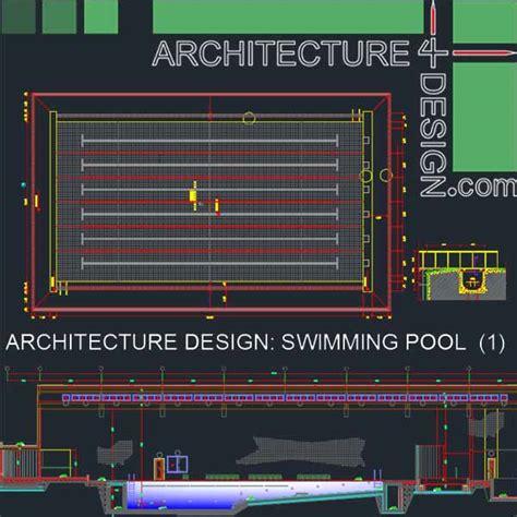 Architecture Design Concept In Autocad Sport Complex Swimming Pool Architecture Design Autocad