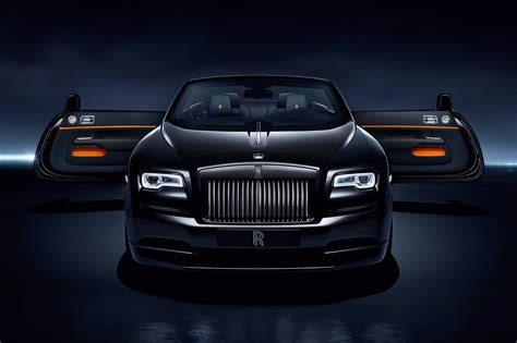 roll royce black dark night rises rolls royce dawn black badge revealed at