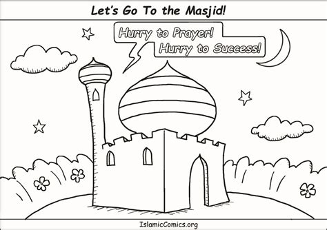 islamic new year coloring pages let s go to the masjid coloring page islamic comics