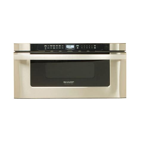 Home Depot Microwave Drawer sharp 30 in w 1 2 cu ft built in microwave drawer in stainless steel with sensor cooking