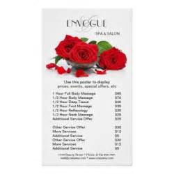 Makeup Price List Template Red Roses Beauty Salon Price List Template Poster Price