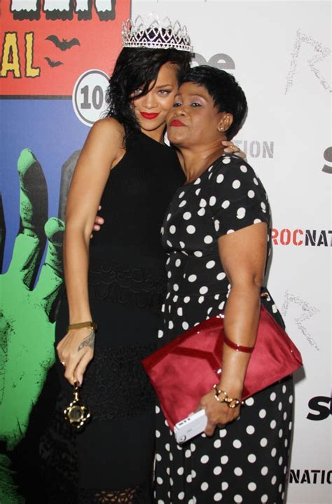 rihanna and her mom african celebrities rihanna