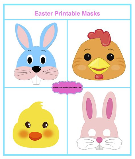 printable easter chick mask template looking for ideas for kids birthday parties