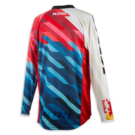 kini motocross gear kini red bull jersey competition pro red blue 2018